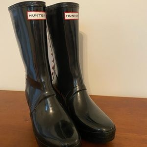 Authentic Hunter Tall Wedge Boots